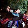 woreczki z boho tkaniny handmade