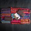 prawdziwe kakao i różne wzory woreczków z tkanin majańskich